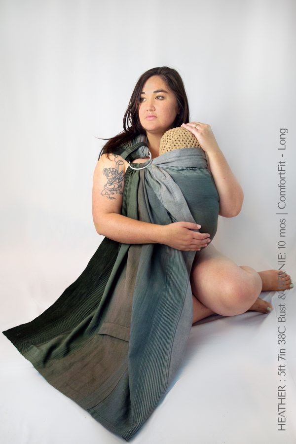 Maya Wrap Ring Sling ComfortFit Forest Ombre