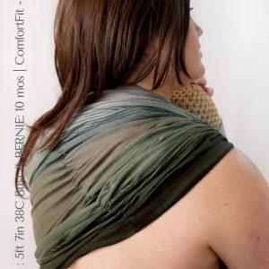 Maya Wrap Ring Sling ComfortFit Forest ombre Back
