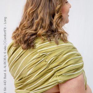 Maya Wrap Ring Sling ComfortFit Olive Grove Back