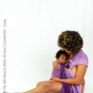 Maya Wrap Ring Sling ComfortFit Violet Ombre