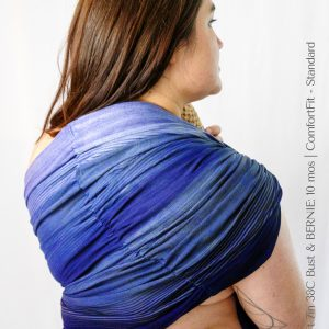 Maya Wrap Ring Sling ComfortFit Blue Ombre