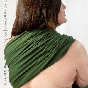 Maya Wrap Ring Sling ComfortFit Forest Shoulder