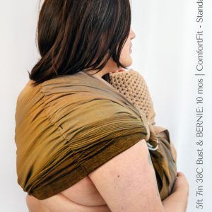 Maya Wrap Ring Sling ComfortFit Turmeric Ombre Shoulder