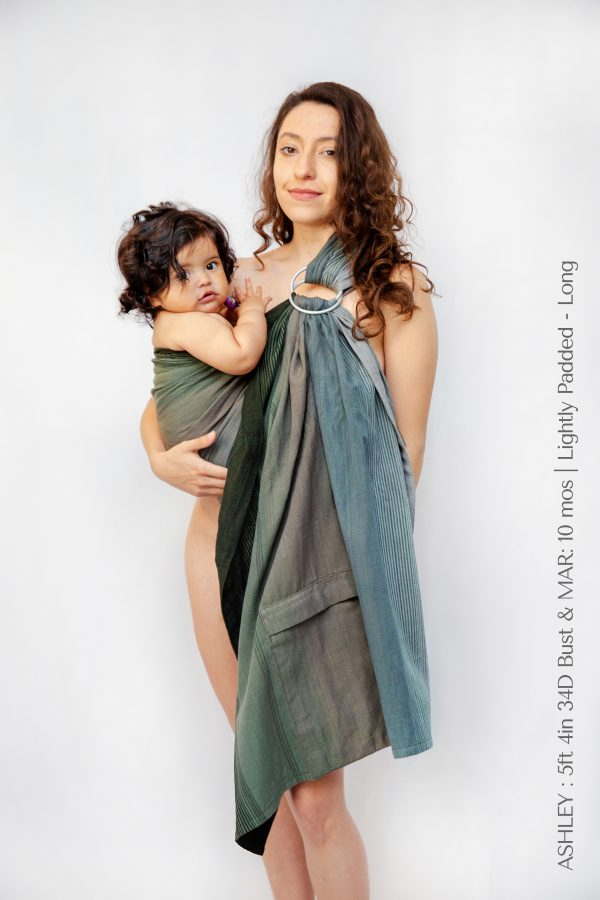 Maya Wrap Ring Sling Lightly Padded Forest Ombre
