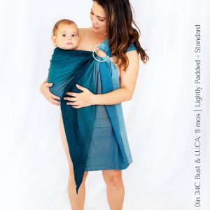 Maya Wrap Ring Sling Lightly Padded Teal Ombre Standard
