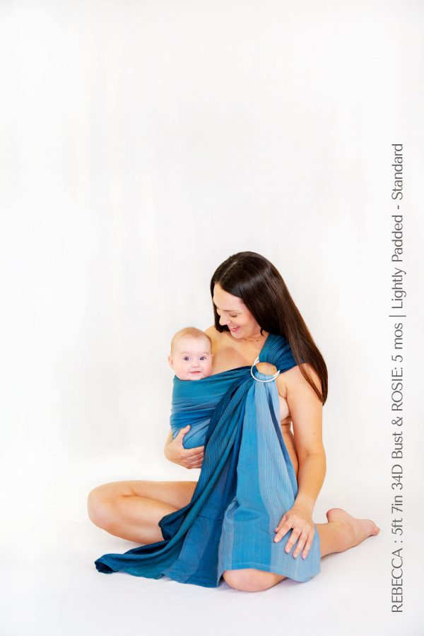Maya Wrap Ring Sling Lightly Padded Teal Ombre